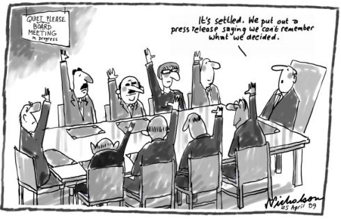 board mtg cartoon